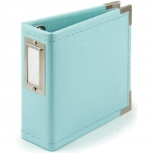 """We R Memory Keepers Instagram Albums Made Easy Mint D-Ring 4""""x4"""" Faux Leather Album & Accessories 660107"""