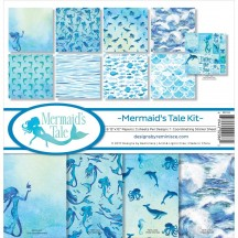 "Reminisce Mermaid's Tale 12""x12"" Paper Crafting Kit MMT-200"