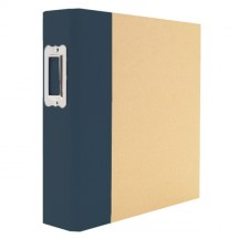 "Simple Stories Snap Binder Navy 6""x8"" Kraft Album & Accessories 4106"