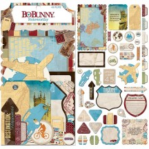Bo Bunny World Traveler Noteworthy Die-Cut Journaling & Accents Cardstock 7310126