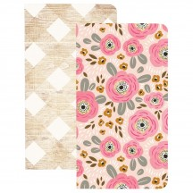 Webster's Pages My Happy Place 2 Pack Traveler Notebooks Flowers & Wood NP207