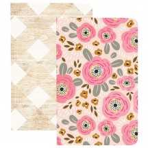 Webster's Pages My Happy Place 2 Pack Pocket Size Traveler Notebooks Flowers & Wood NP211