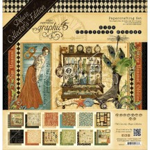 Graphic 45 Papercrafting Olde Curiosity Shoppe Deluxe Collectors Edition Pack 4501517