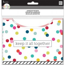 Me & My Big Ideas Create 365 The Happy Planner Adhesive Pocket Multi Dot PAP-01