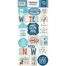 Echo Park Celebrate Winter Self Adhesive Chipboard Phrase Stickers CW162022