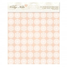"doCrafts Papermania Vintage Notes Filigree 12""x12"" Self Adhesive Fabric Paper 181204"