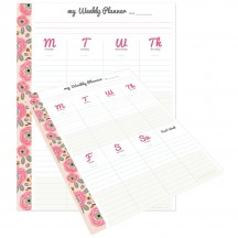 Webster's Pages My Happy Place Weekly Planner Tear-away Pad PP43
