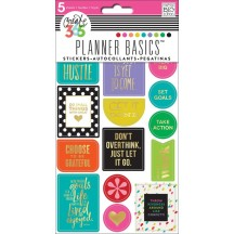 Me & My Big Ideas Create 365 The Happy Planner Basics Bright Hustle Stickers PPS-81