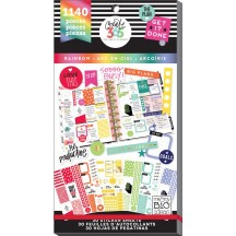 Me & My Big Ideas Create 365 The Happy Planner Rainbow CLASSIC Value Pack Stickers PPSV-11
