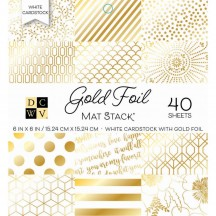 """DCWV Gold Foil 6""""x6"""" Stack - 40 sheets PS-006-00141"""