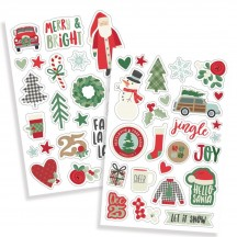Simple Stories Merry & Bright Christmas Puffy Stickers 10326