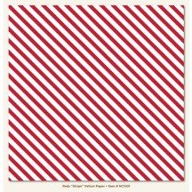 "My Minds Eye Red & White Stripe Vellum Paper 12""x12"" Sheet NC1021"