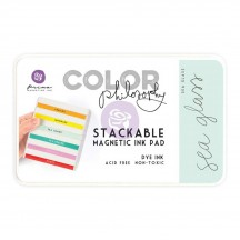 Prima Color Philosophy Sea Glass Aqua Stackable Magnetic Dye Ink Pad 589424