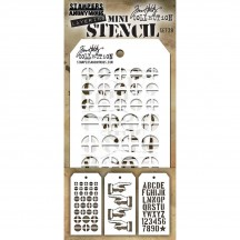 Tim Holtz Mini Layering Stencil Mask Set - Set 29 THMST029
