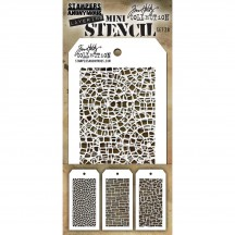 Tim Holtz Mini Layering Stencil Mask Set - Set 28 THMST028