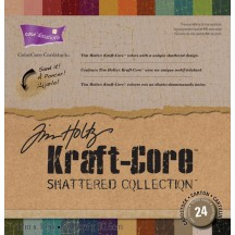 "Coredinations 12""x12"" ColorCore Cardstock - Tim Holtz Kraft-Core Shattered Collection"