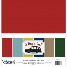 "Echo Park A Dog's Tail 12""x12"" Solids Paper Kit ADT155015"