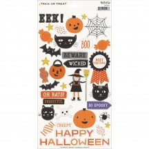 "My Mind's Eye Trick Or Treat Halloween 6""x12"" Die-Cut Cardstock Stickers HLW118"