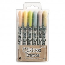 Ranger Tim Holtz Distress Crayons 6 pack - Set 8 TDBK51787
