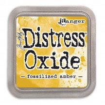 Ranger Tim Holtz Fossilized Amber Distress Oxide Ink Pad TDO55983 yellow