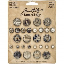 Tim Holtz Idea-ology Fasteners - Dapper TH93263