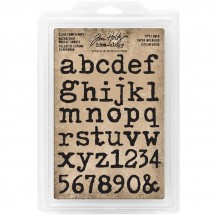 Tim Holtz Idea-ology Cling Foam Stamps Type Lower TH93579