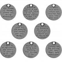 Tim Holtz Idea-ology Metal Quote Tokens TH93691