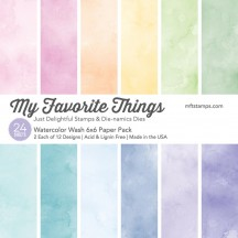 "My Favorite Things Watercolor Wash 6""x6"" Paper Pack"