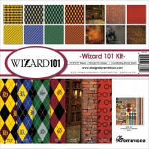 """Reminisce Wizard 101 12""""x12"""" Paper Crafting Kit WIZA-200"""