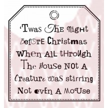 Woodware 'Twas Tag Clear Magic Christmas Stamp Set FRS028