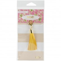 Webster's Pages Color Crush Yellow Tassel Charm CH146Y