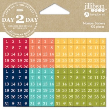 jillibean soup day 2 day planner number stickers 1217 craftie