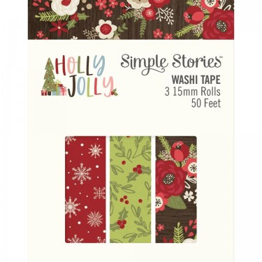 Holly Jolly Christmas.Simple Stories Holly Jolly Christmas Washi Tape 3 Roll Pack 11426