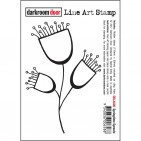 Darkroom Door Rubber Springtime Sprouts Line Art Stamp - DDLA008