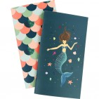 Echo Park Traveler's Notebook Mermaid Weekly Calendar Inserts TNME1009