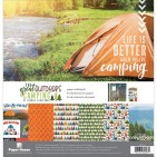 "Paper House The Great Outdoors Camping 12""x12"" Paper Crafting Kit KTSP1062"