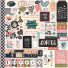 "Echo Park Coffee 12""x12"" Element Shape Stickers CO164014"
