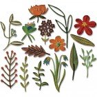 Sizzix Funky Floral 2 Tim Holtz Alterations Thinlits Cutting Dies 662701