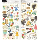 "Pebbles Jen Hadfield Along The Way 6""x12"" Accent Stickers 2 sheets 733967"
