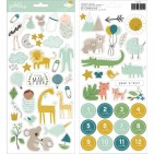 """Pebbles Peek-A-Boo You Baby Boy 6""""x12"""" Accent Stickers 734210"""