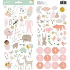 "Pebbles Peek-A-Boo You Baby Girl 6""x12"" Accent Stickers 734211"