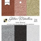 "DCWV Glitter Metallics 6""x6"" Cardstock Stack 24 sheets PS-006-00118"