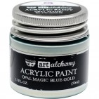 Prima Finnabair Art Alchemy Opal Magic Blue-Gold Acrylic Paint 50ml 963675