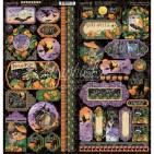 """Graphic 45 Midnight Tales 12""""x12"""" Die-cut Cardstock Element Stickers 4502286"""
