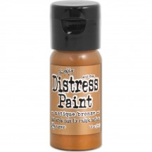 Ranger Tim Holtz Antique Bronze Distress Paint Fliptop TDF52913