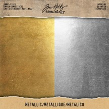 "Tim Holtz Idea-ology Metallic 8""x8"" Kraft Stock TH93586"