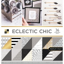 """DCWV Eclectic Chic Premium Stack 12""""x12"""" - 36 sheets PS-005-00529"""