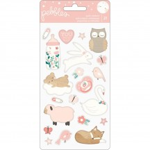 Pebbles Night Night Girl Baby Icon Puffy Stickers 732828