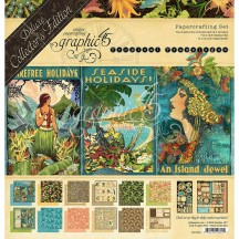 Graphic 45 Papercrafting Tropical Travelogue Deluxe Collectors Edition Pack 4501723