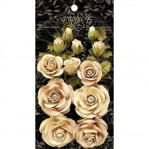 Graphic 45 Rose Bouquet Collection Classic Ivory & Natural Linen 4501784